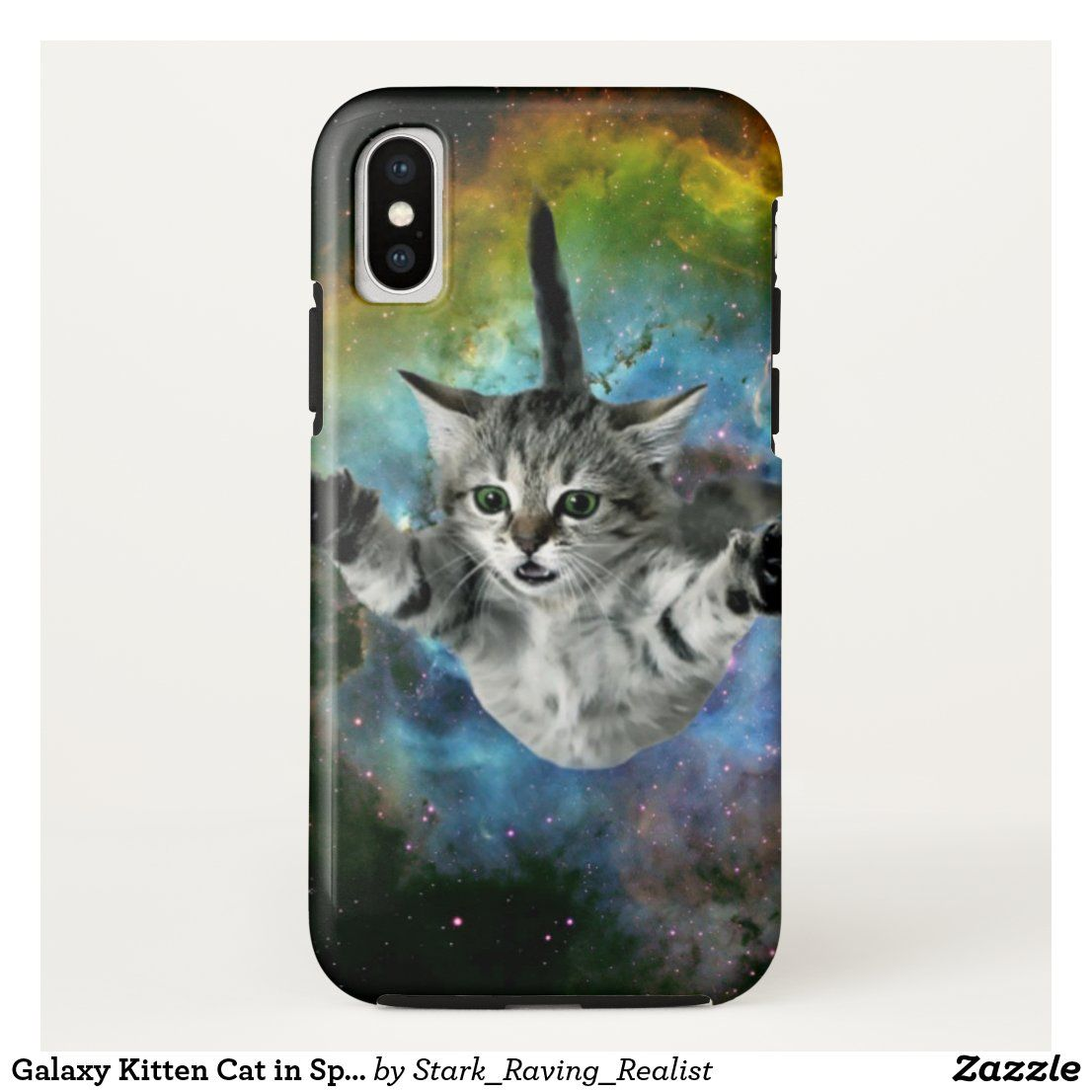 Galaxy Kitten Cat In Space Case Mate Iphone Case Zazzle Com In 2020 Galaxy Cat Iphone Cases Cats And Kittens