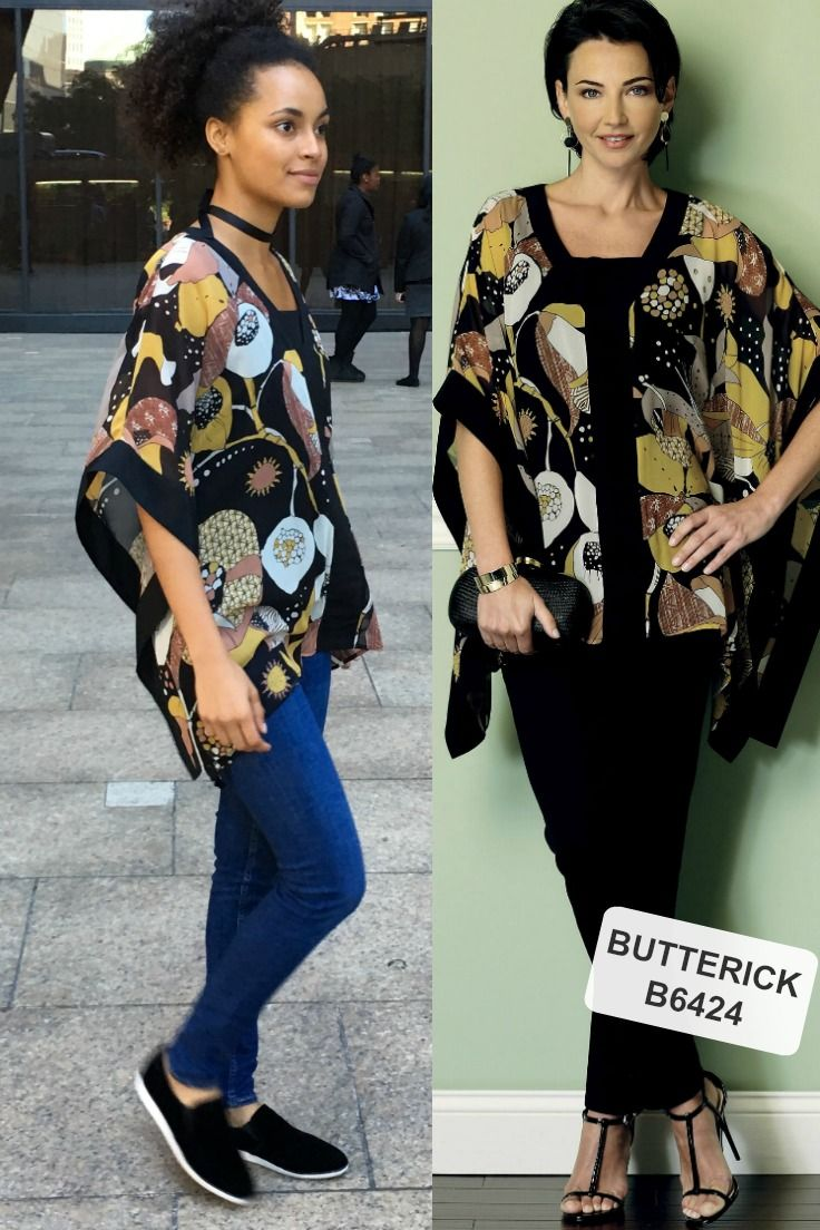 Kimono pattern from Butterick. B6424 as seen on Paula in our new Winter collections video on YouTube