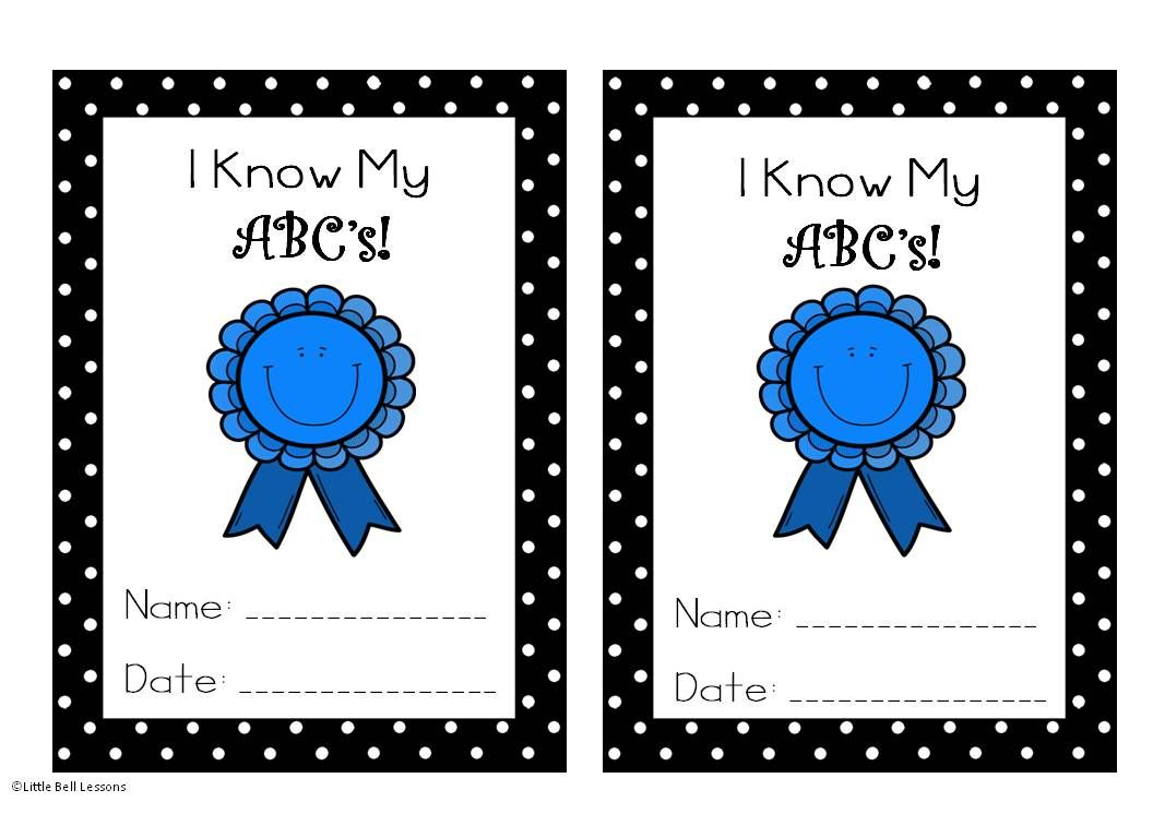 I Know My Abc S Certificate