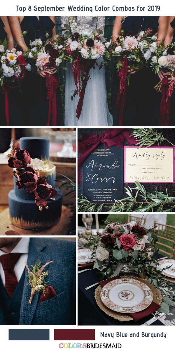 Top 8 September Wedding Color Combos for 2019 September