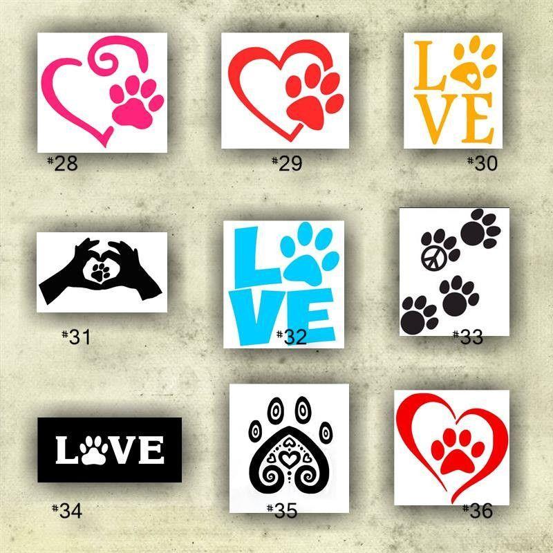 Paw prints vinyl decals paw print stickers dog sticker dog paw prints personalized
