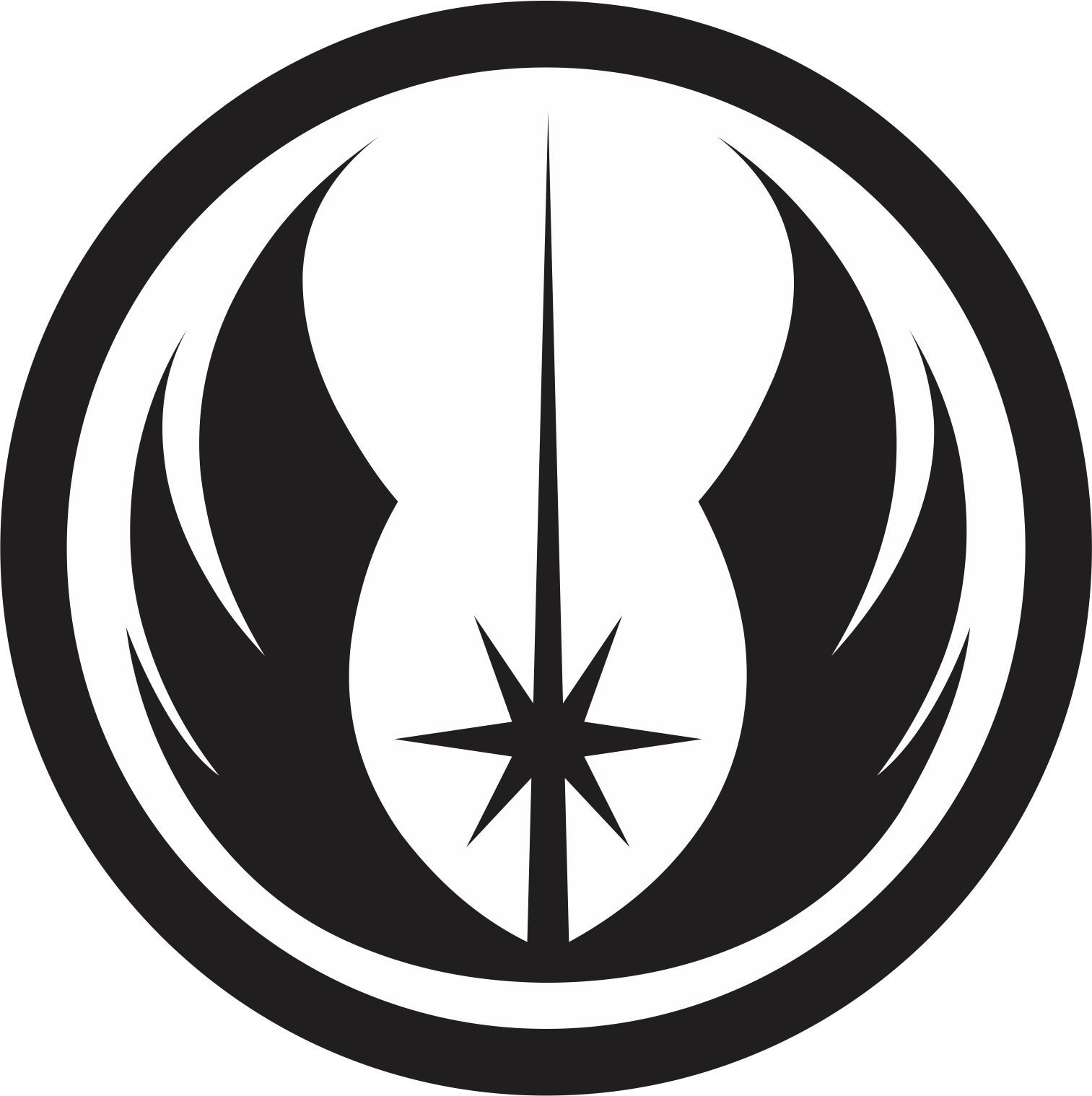 Jedi symbol visit my website to order one vinyl decals jedi symbol biocorpaavc