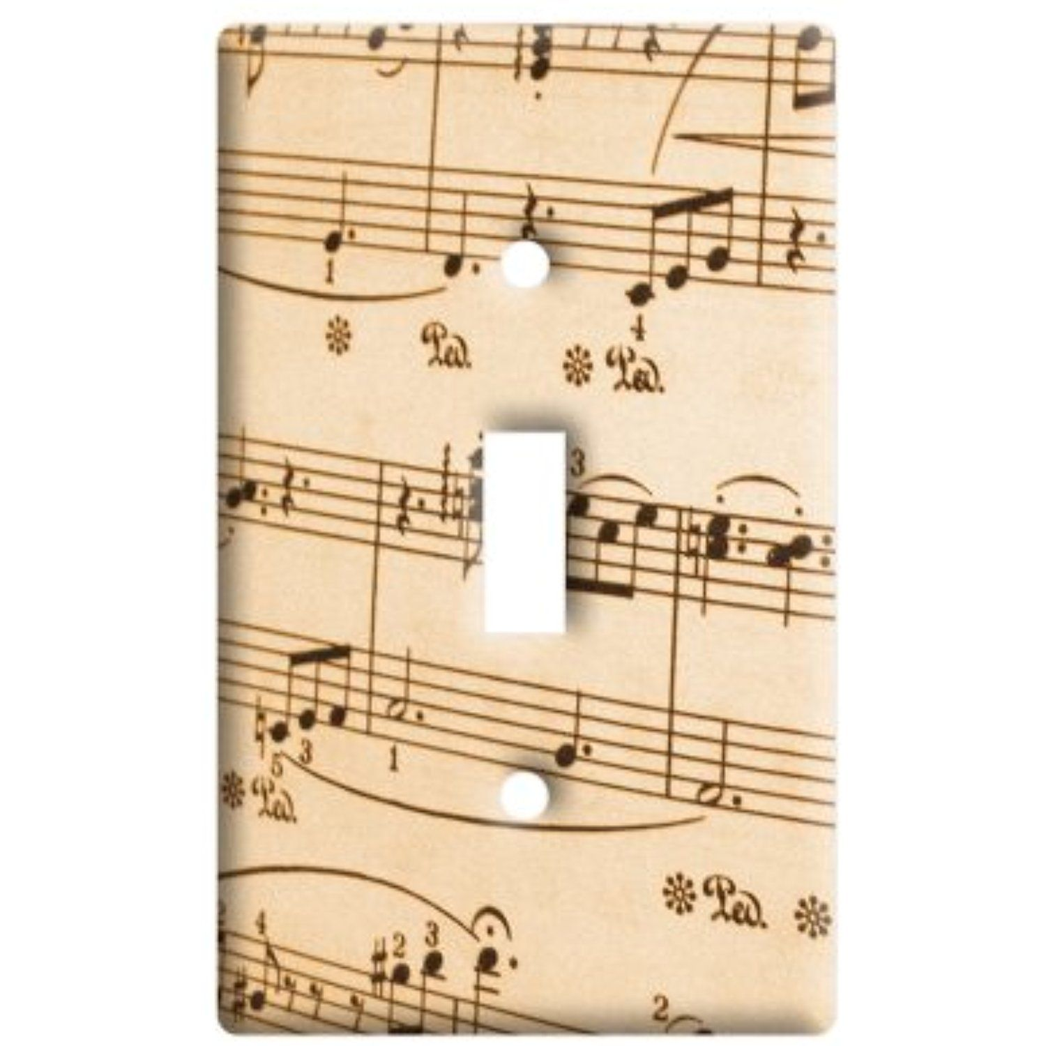 Music Musical Sheet Notes Vintage - Treble Clef - Plastic Wall Decor ...