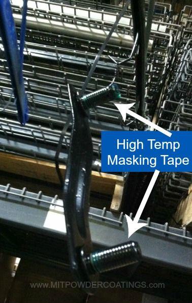 High Temp Masking Tape Used To Mask Parts During The Powder Coating Process Mitpowder Powdercoating Maskin Masking Tape Powder Coating Process Powdercoating