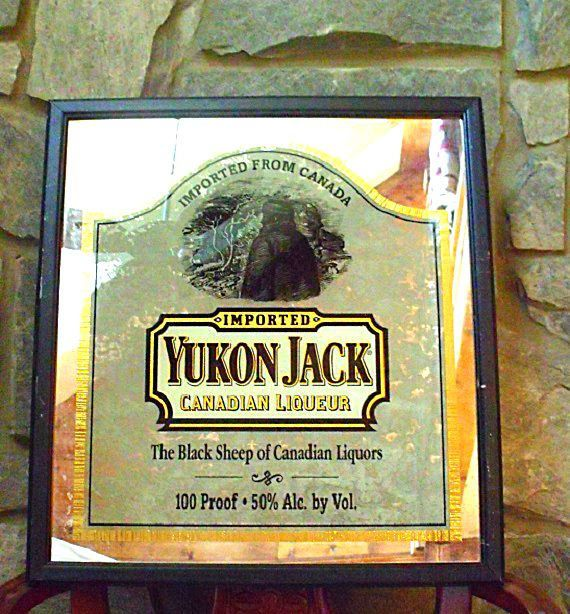 Man Cave Decor - Yukon Jack Whiskey Mirror - Vintage Wall Art for ...
