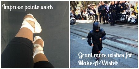 Janine's resolutions are to improve her ballet pointe work and to grant more wishes for Make-A-Wish!