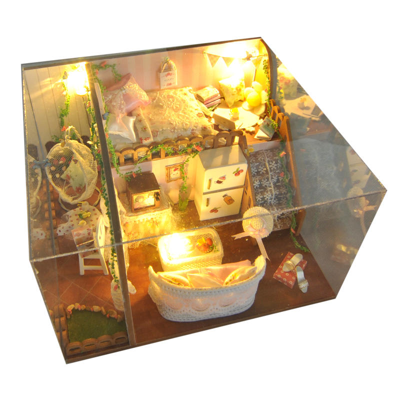 DIY Dollhouse Kit Heart Of Ocean And Kitten Diary Gift Decor Collection T-005 H