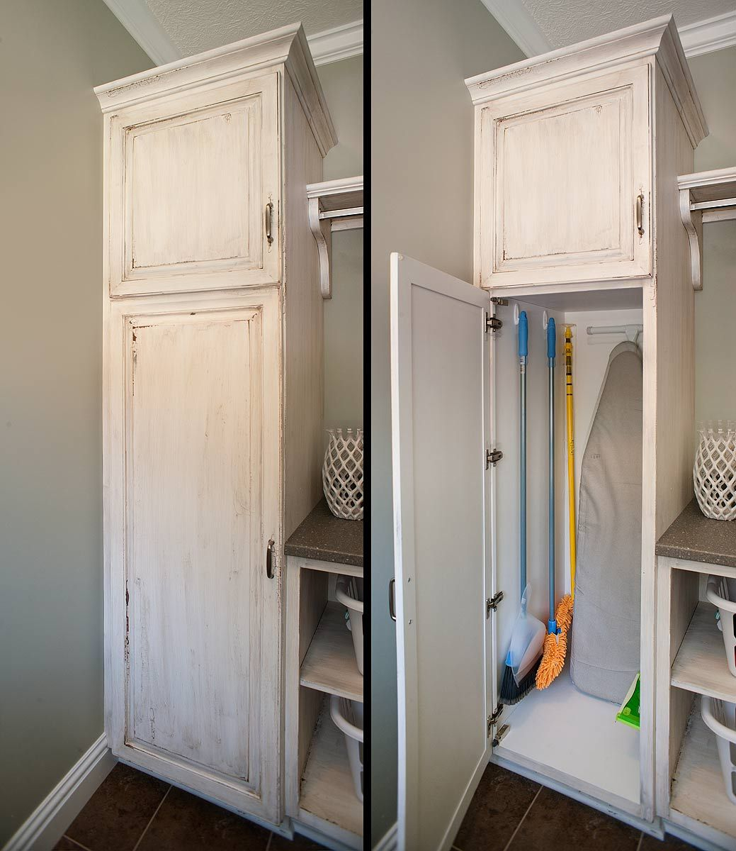 Best Laundry Room Location: Broom And Mop Holders Are Great For Eliminating The