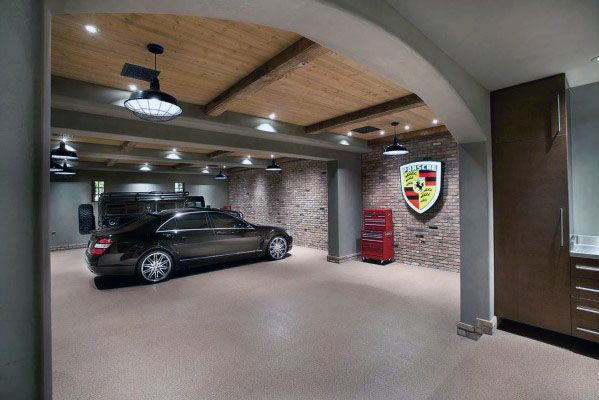 Top 40 Best Garage Ceiling Ideas Automotive Space Interior