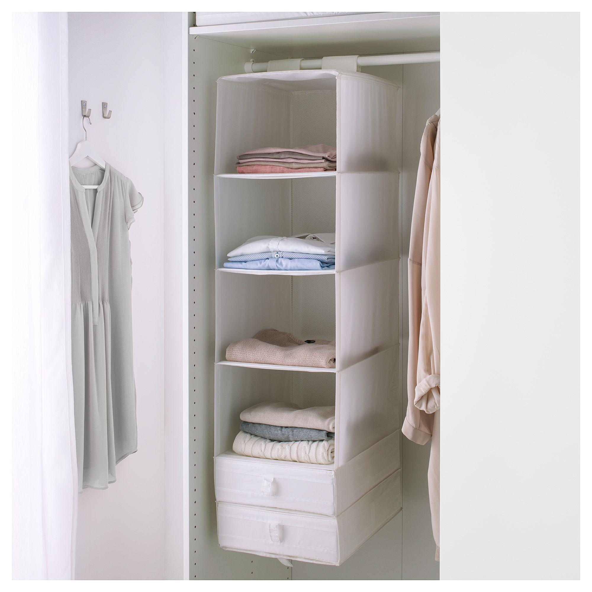 Skubb White Storage With 6 Compartments 35x45x125 Cm Ikea Storage Ikea Small Closet Organization