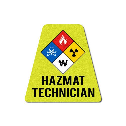 Reflective HAZ-MAT Technician Tetrahedron Firefighter and Products