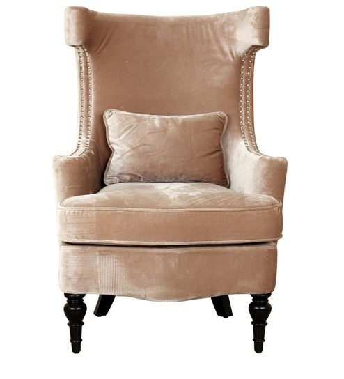 Superb Andria Wing Chair In Beige Colour By Hometown Wing Chair Caraccident5 Cool Chair Designs And Ideas Caraccident5Info