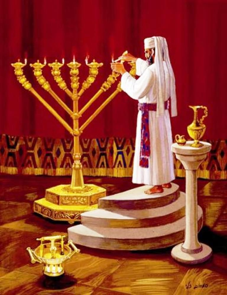 Seven Lamps Speak To Aaron And Say To Him When You Set Up The Lamps The Seven Lamps Shall Give Light In Front Of The Lampsta Menorah Biblical Art Jewish Art