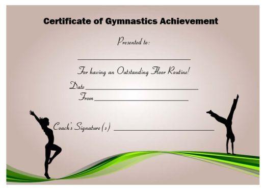 gymnastics certificate templates certificates template gymnastic printable award creative awards smithchavezlaw names example templatesumo