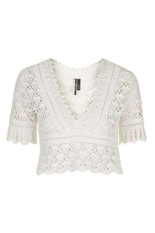 Crochet Crop | Pulls au crochet | Pinterest | Blusas y Tejido