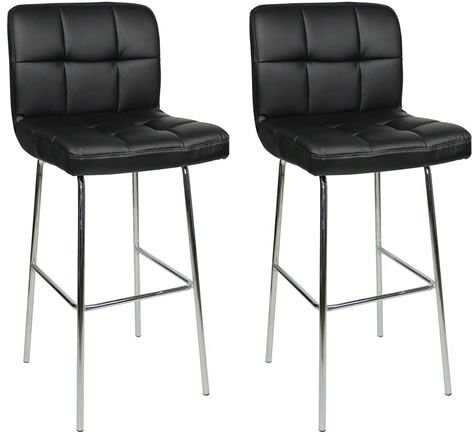 Fine Pair Algoro Chrome And Padded Kitchen Breakfast Bar Stools Ocoug Best Dining Table And Chair Ideas Images Ocougorg