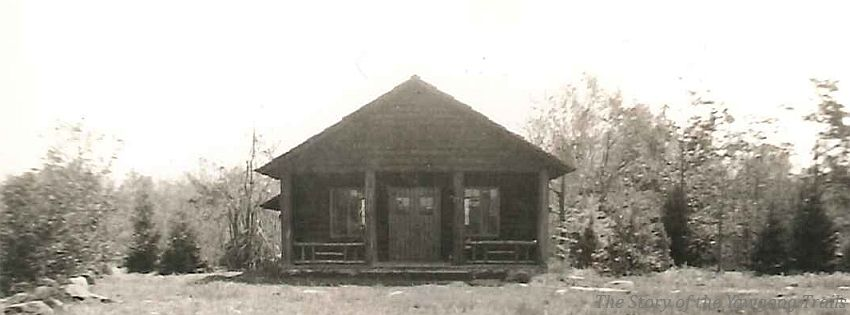 A circa 1939 photo of the East Cabin at #Yawgoog, believed to have been taken by Troop 8 Cranston, Rhode Island (RI). On the Orange Trail.  Facebook cover photo.