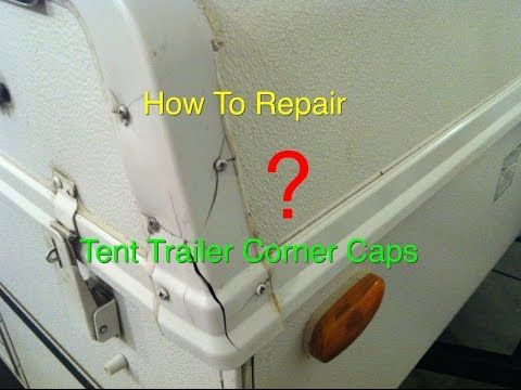 How To Repair Popup Tent Trailer Roof Caps Rock Wood Flagstaff Youtube Tent Trailer Camping Pop Up Tent Trailer Tent Trailer