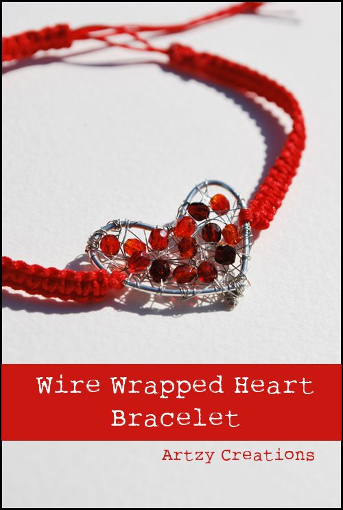 Easy to make Wire Wrapped Heart Bracelet by Artzy Creations ...