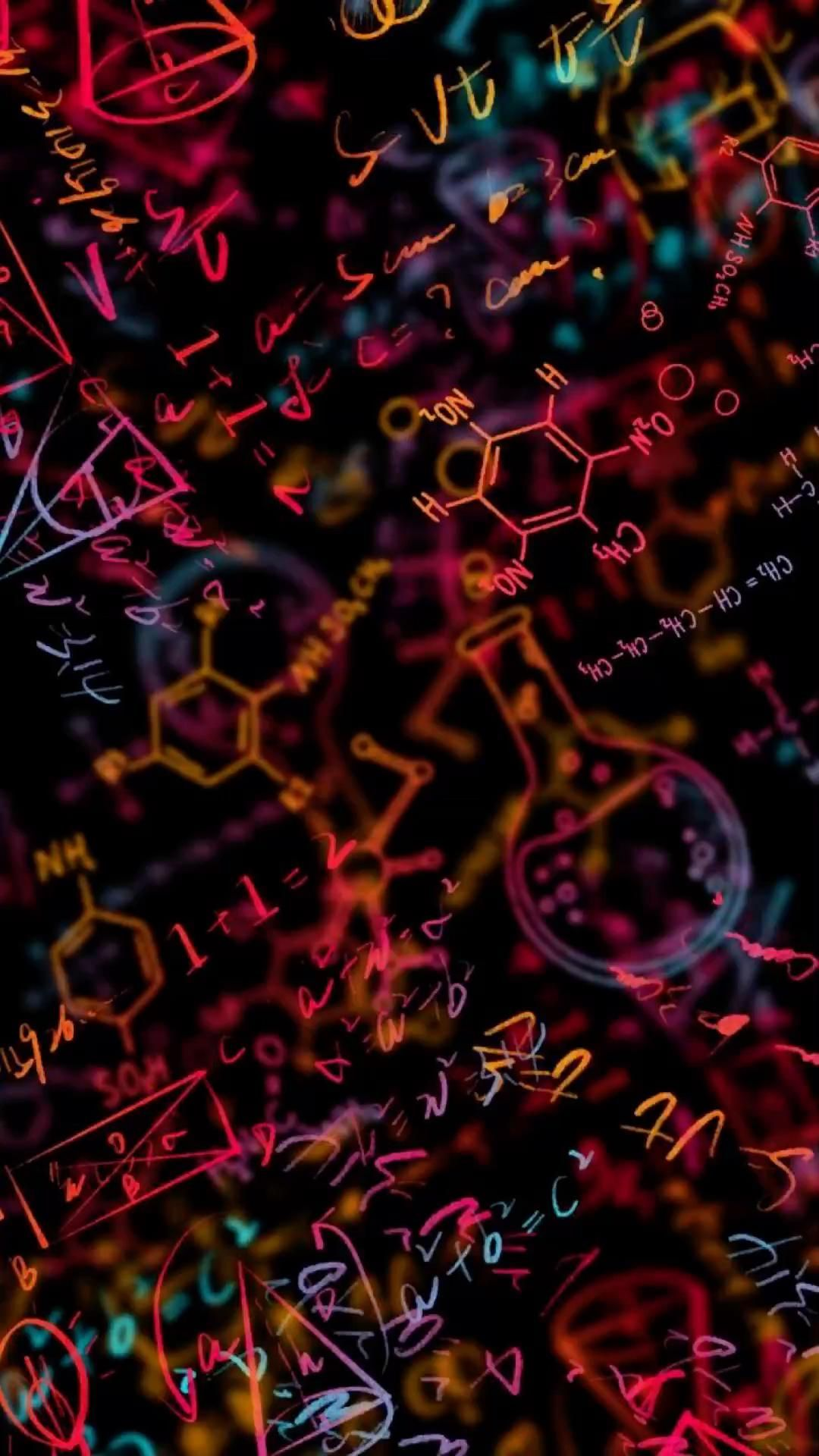 Chemistry and Math Formulas Wallpaper