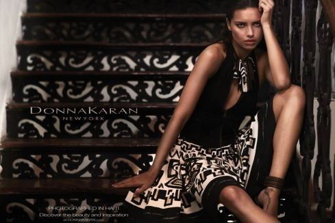 Donna Karan Spring 2012 Ad Campaign - love the stairs vs. skirt pattern