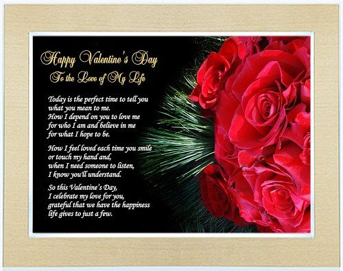 Love Poems For Wife Or Girlfriend: Valentine Gift For Wife, Husband, Girlfriend Or Boyfriend