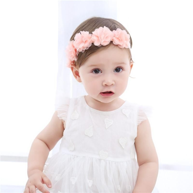 Hair Accessories Wecute Flower Ribbon Headband New Arrival Baby Girls Fashion Princess Hair Band Photo Prop Pearl Lace Party Birthday Gift Accessories