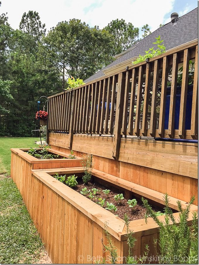 backyard landscaping with raised