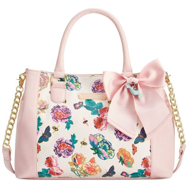 Betsey Johnson Floral Satchel ($98) ❤ liked