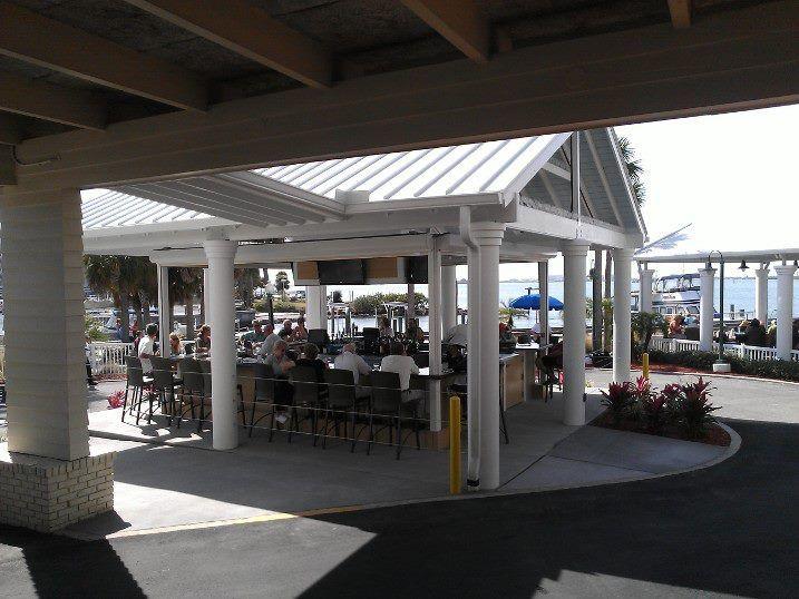 Waterfront Outside Bar The Bon Appetit Restaurant Dunedin