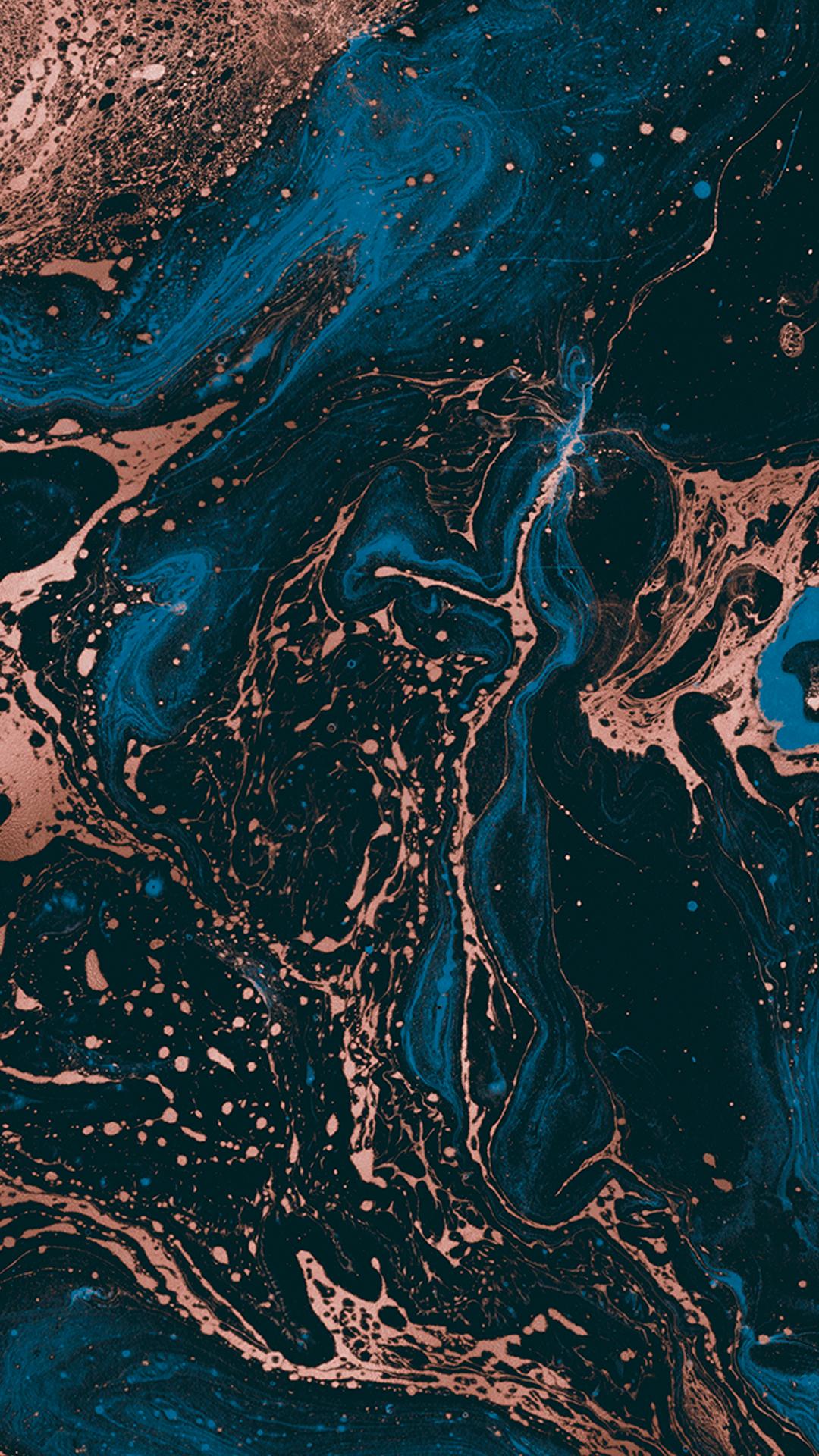Wallpaper Prime - Dark Blue Marble by Gocase