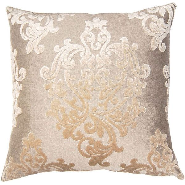 Platinum Floral Throw Pillow ($303) ❤ liked on Polyvore featuring home, home decor, throw pillows, floral toss pillows, floral accent pillows, floral home decor, damask throw pillows and floral throw pillows