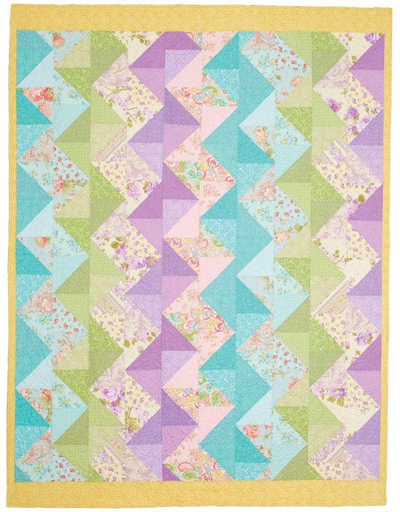 Pastel Zig Zag Quilt | Zig zag : fons and porter baby quilts - Adamdwight.com