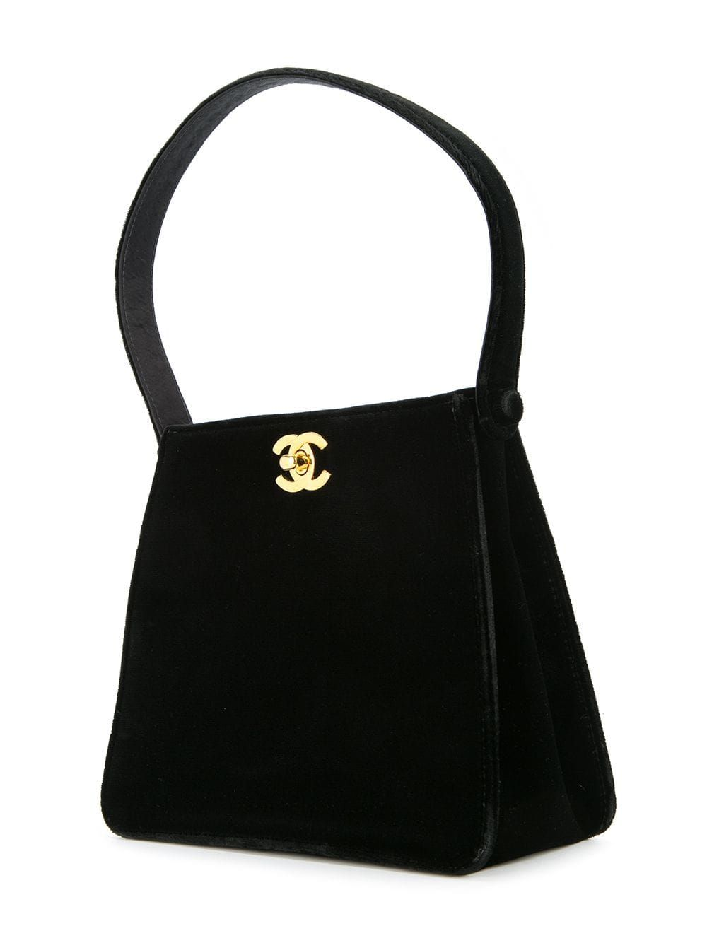Chanel Pre Owned Cc Logo Quilted Hand Bag Farfetch In 2020 Chanel Pre Owned Vintage Chanel Bags