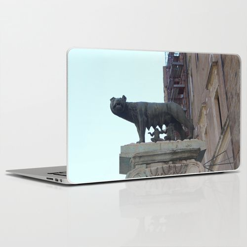wolves and humans Laptop & iPad Skin