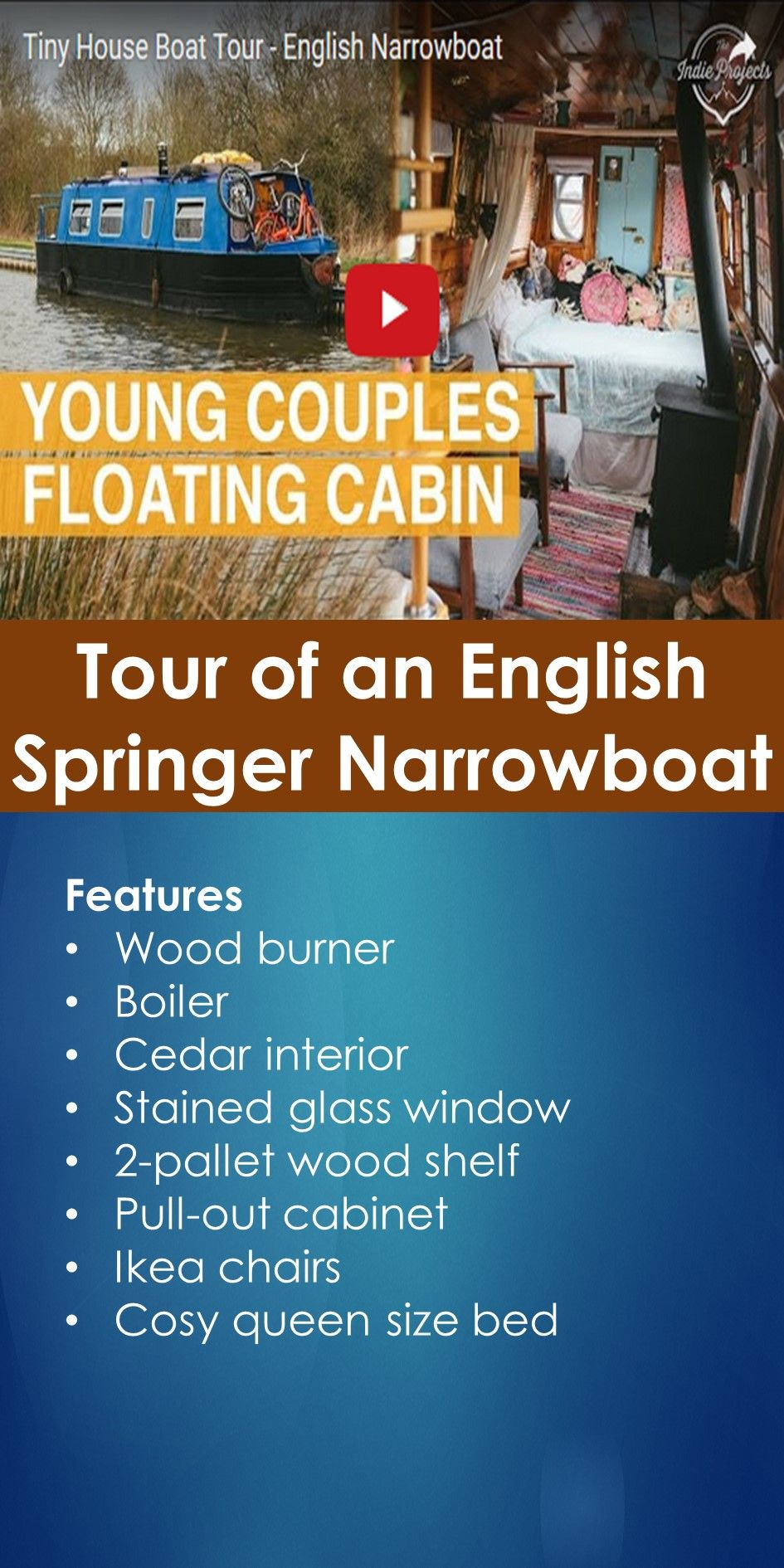 Tiny House Boat Tour: Tour of an English Springer Narrowboat | In This Guide, You Will Learn The Following; Springer Narrowboat For Sale, Springer Waterbug For Sale, Narrowboat Project For Sale, Small Narrowboat For Sale, 30 Ft Narrowboat Layout, Waterbug Boat For Sale, Little Narrowboats, Small Narrow Boats, Etc.