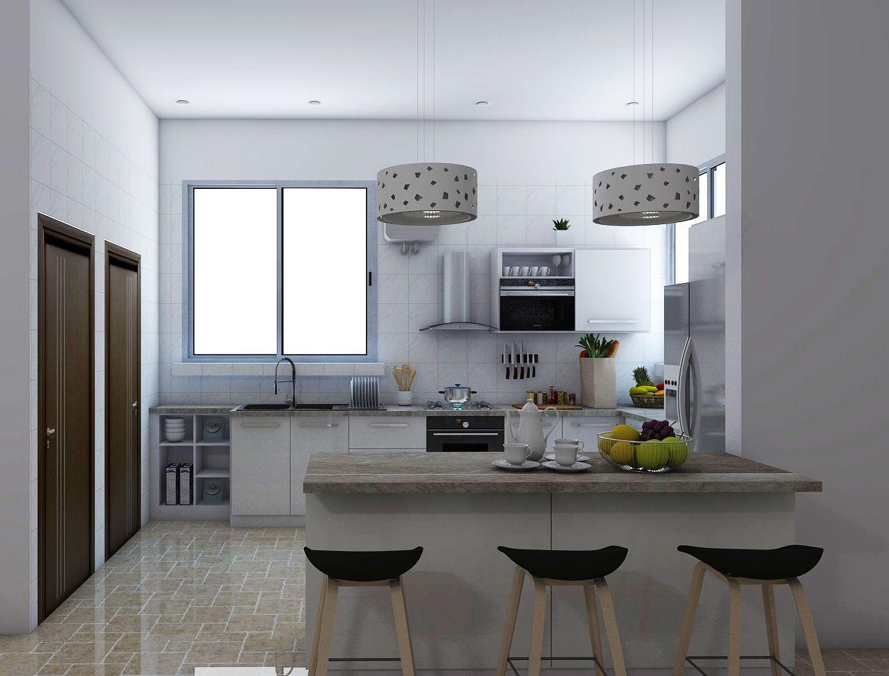 loncha kitchen architectural designs #3drendering #