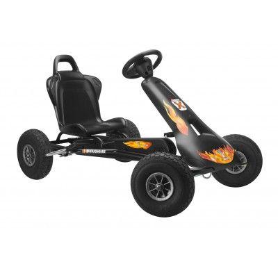 Ferbedo Go Cart Air Racer Night Rider Ar 2 Schwarz 8710 Kettcar Tretfahrzeuge Fahrzeuge