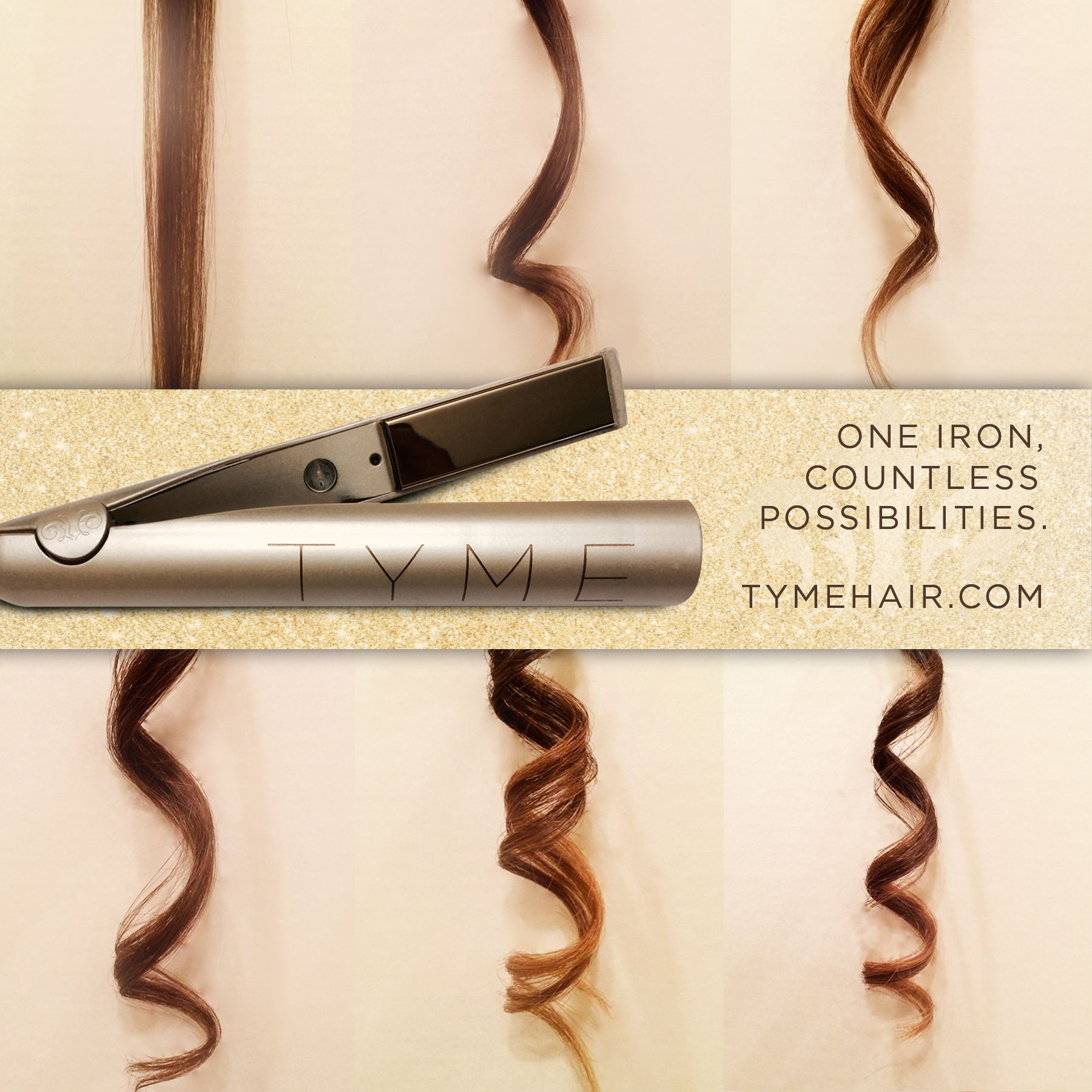 Curl Or Straighten Your Hair In Minutes The Tyme Iron Is