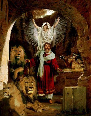 daniel na cova dos leoes pintura - Pesquisa Google | Santos | Pinterest