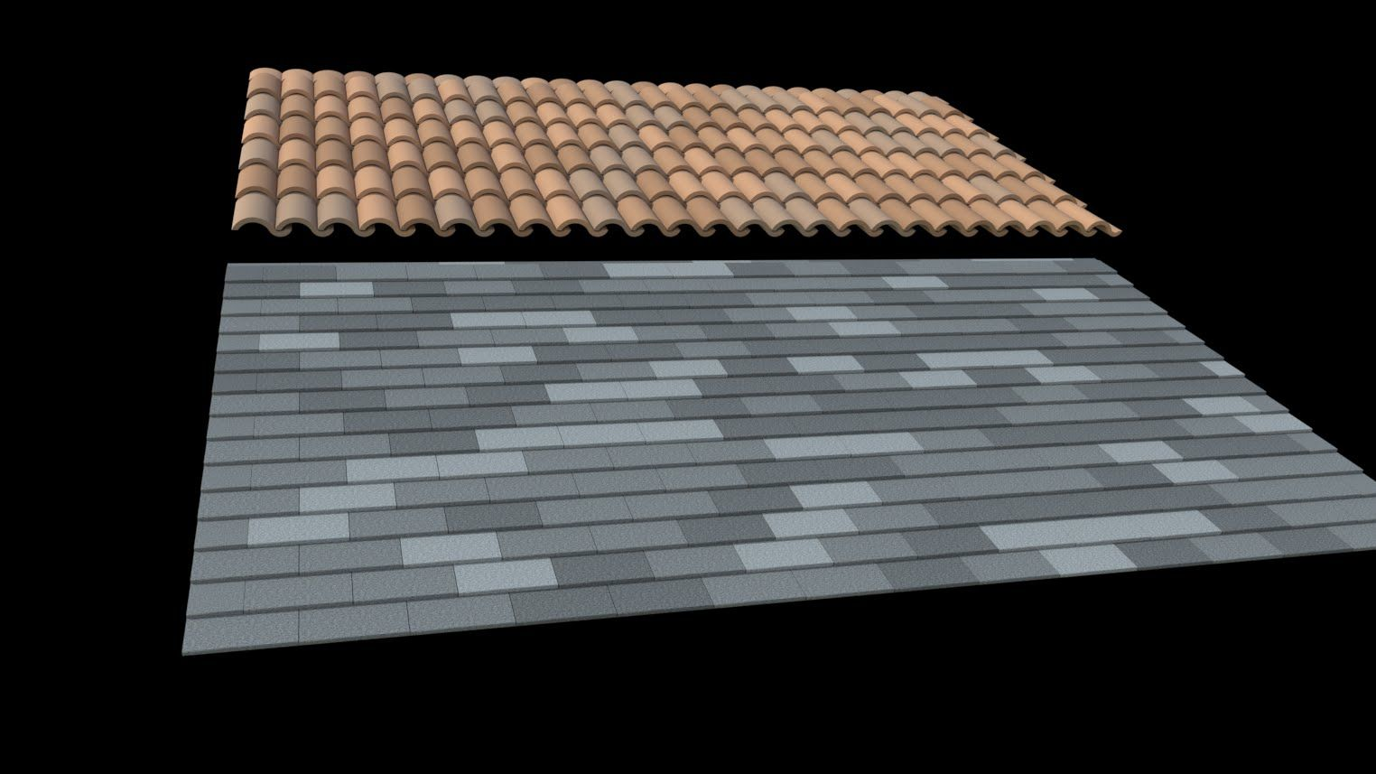 Sketchup Fast 3d Roof Tiles And Shingles Roof Tiles Shingling Roof