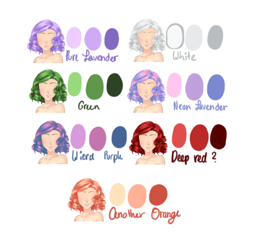 Hair Color Palette by What