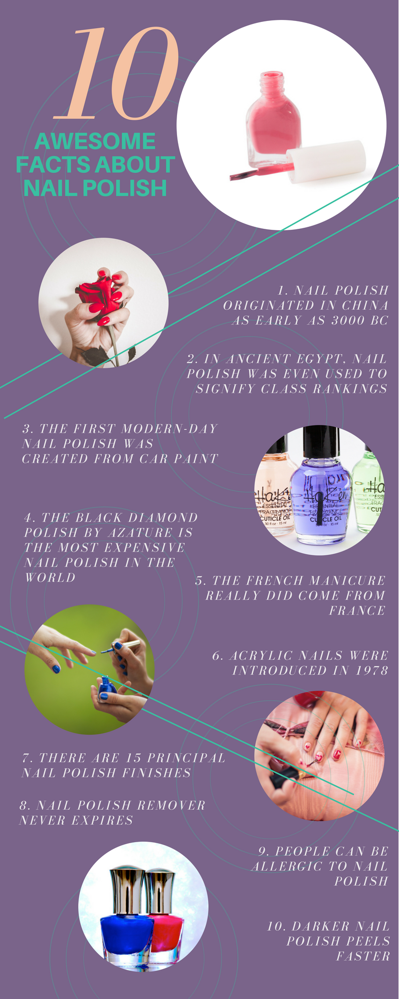 10 AWESOME FACTS ABOUT NAIL POLISH - ICE MAGI   Awesome facts