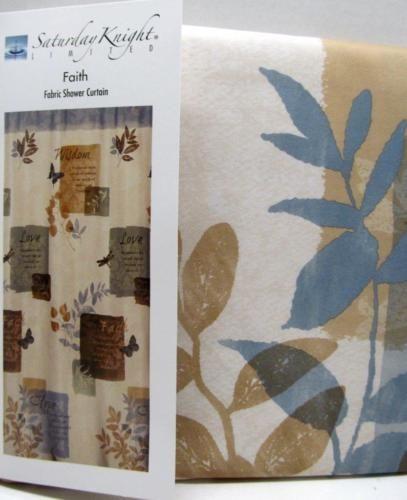 Faith Bathroom Shower Curtain Inspirationl Bible Quotes Love Wisdom Hope New Bathroom Shower Curtains Ebay Collectibles