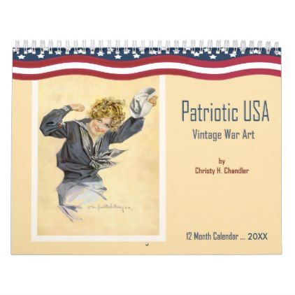 2018 Vintage Patriotic USA Wall Calendar