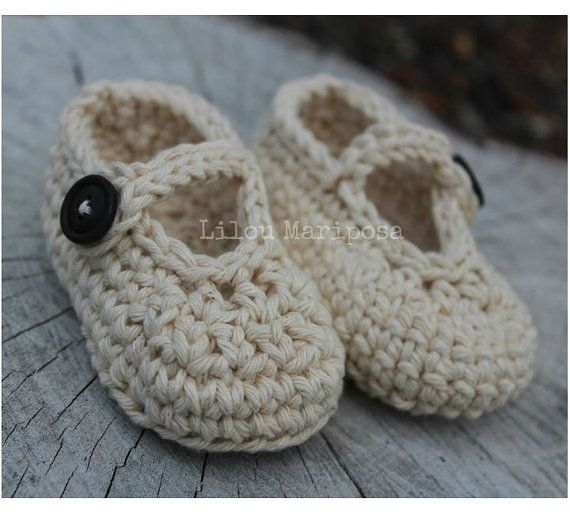 CROCHET BABY SHOES Pattern Crochet Mary Jane by Liloumariposa ...