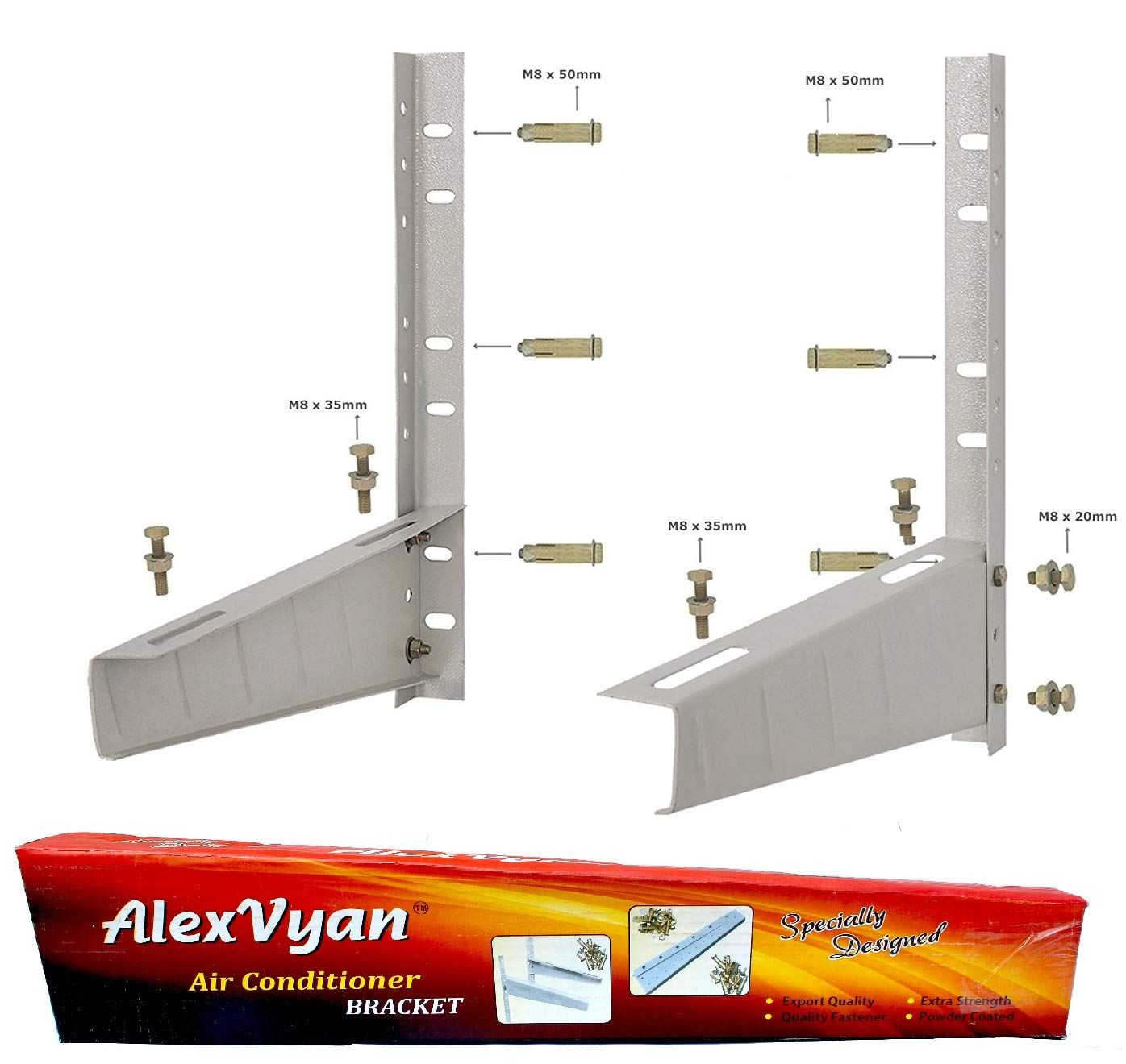 Alexvyan Special Coated Super Quality Split Ac Air Conditioner Outdoor Unit Wall Mounting Bracket Stand Mount For 1 Ton 1 1 Ton 1 2 Ton 1 5 Ton 2 Ton For Al Large Appliances Air Conditioner Bracket Split Ac
