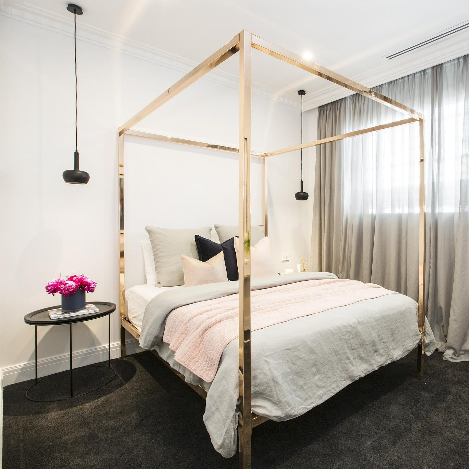 Glamming Up The Joint Gold Bed Rose Gold Bed Guest Bedroom