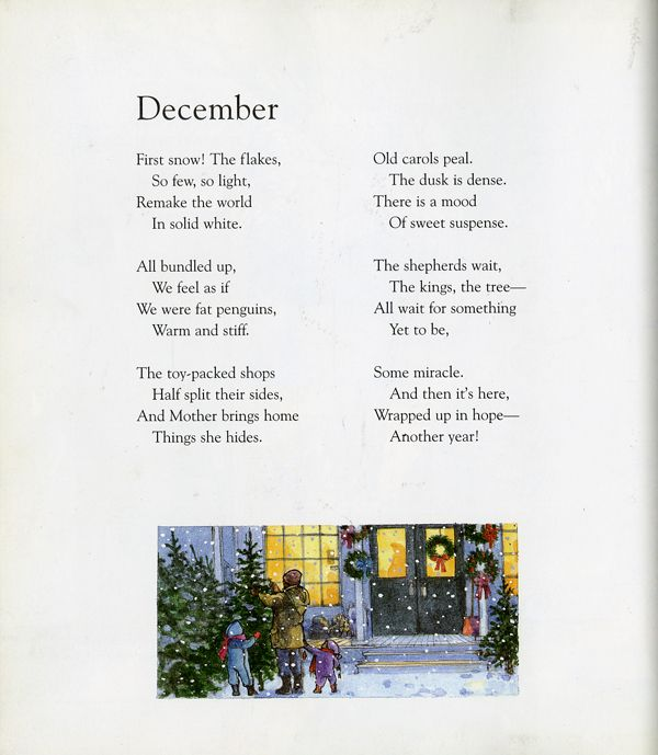 Read Me A Story Months Of The Year Winter Poems Kids Poems Christmas Poems