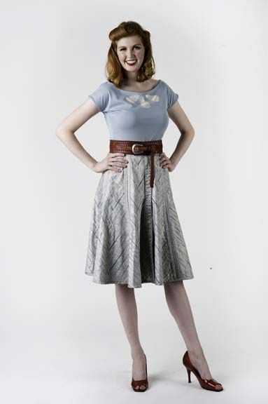 16 Gored Reversible Skirt:
